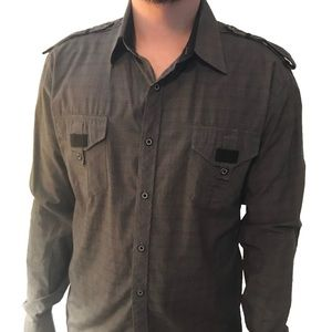 191 Unlimited Men's Grey Button Down